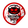 Halloween party sticker Stock Photos