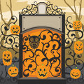 Halloween party a vector illustration of showing the invitation see related image Royalty Free Stock Images