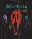 Halloween party vintage grunge background vector Royalty Free Stock Photo