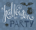 Halloween party vintage grunge poster Royalty Free Stock Photo