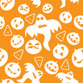 Halloween pattern with pumpkins Royalty Free Stock Photo