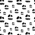 Halloween pattern seamless vector with ghosts festive wrapper background Royalty Free Stock Image