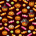 Halloween pattern seamless vector illustration Royalty Free Stock Images