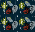 Halloween pattern stars Stock Images