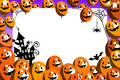 Halloween Photo Frame Balloons Party Royalty Free Stock Photo