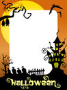 Halloween Photo Frame Ghost Castle Royalty Free Stock Photo