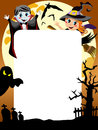 Halloween photo frame post card or page for your scrapbook eps file is available Royalty Free Stock Photo