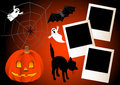 Halloween with photo frames. vector. Royalty Free Stock Image
