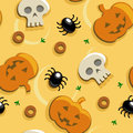 Halloween pizza seamless pattern background Stock Photos
