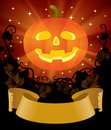 Halloween placard Stock Photo