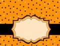 Halloween polka background Stock Images