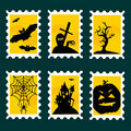 Halloween postal stamps Stock Photography