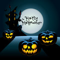 Halloween postcard Stock Photography