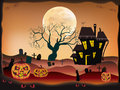 Halloween , postcard . Royalty Free Stock Image
