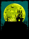 Halloween poster background Stock Images