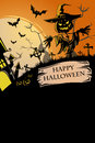 Halloween poster a vector illustration of design Royalty Free Stock Photo