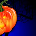 Halloween and pumpkin background for under the moon vector illustration Royalty Free Stock Image