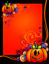 Halloween pumpkin banner Royalty Free Stock Image