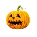 Halloween pumpkin with big teeth