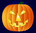 Halloween pumpkin on blue background Royalty Free Stock Photo