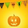 Halloween Pumpkin With Bunting...