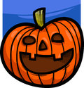 Halloween pumpkin cartoon illustration of spooky clip art Royalty Free Stock Image