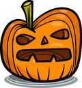 Halloween pumpkin cartoon illustration of spooky clip art Stock Images
