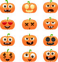 Halloween pumpkin characters vector illustration of separate layers for easy editing Stock Photography