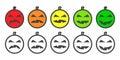Halloween Pumpkin color Emoji icons