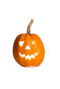 Halloween pumpkin, funny face isolated on white background Royalty Free Stock Photo