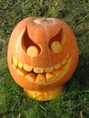 Halloween pumpkin on the grass Royalty Free Stock Photo