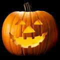 Halloween pumpkin head Royalty Free Stock Photo