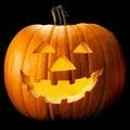 Halloween pumpkin head Royalty Free Stock Photo