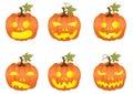 Halloween pumpkin icons Stock Photography