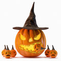Halloween pumpkin jack o lantern Stock Photos