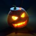 Halloween pumpkin jack o lantern d render Stock Image