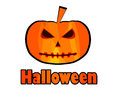 Halloween pumpkin jack o lantern halloween patch badge vector illustration Stock Photography