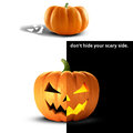 Halloween Pumpkin Jack o Lantern Royalty Free Stock Photo