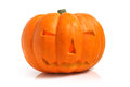 Halloween pumpkin jack o lantern on a white background Royalty Free Stock Photo
