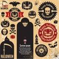 Halloween pumpkin labels