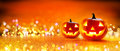 Halloween Pumpkin With Lights Royalty Free Stock Photo