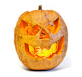 Halloween pumpkin orange on white background Royalty Free Stock Photos