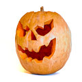 Halloween pumpkin orange on white background Royalty Free Stock Photography