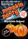 Halloween Pumpkin Party Flier Royalty Free Stock Photo