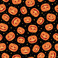Halloween pumpkin pattern Royalty Free Stock Image