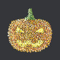 Halloween pumpkin point and concept Royalty Free Stock Image
