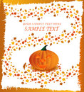 Halloween pumpkin poster Royalty Free Stock Photo