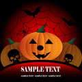Halloween pumpkin poster Stock Images