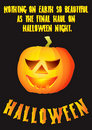 Halloween pumpkin poster design Royalty Free Stock Images
