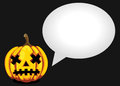 Halloween Pumpkin Poster Royalty Free Stock Photo